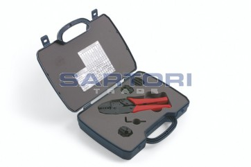 KIT IN VALIGIA PINZA A CRIMPARE CONNETTORI RF