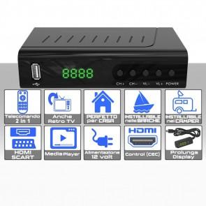 RICEVITORE DVB/T2 NOT-TV RETRO TV CON DISPLAY ESTERNO