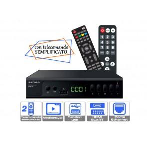 RICEVITORE DVB/T2 CON 2 TELECOMANDI
